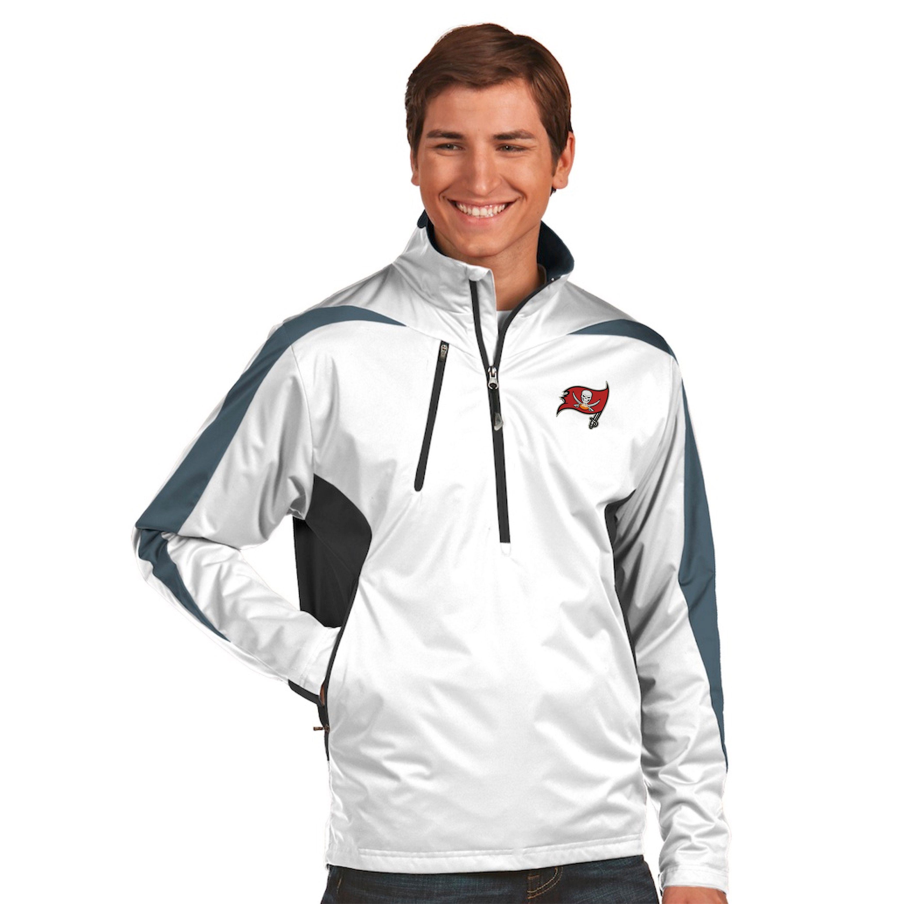 NFL Tampa Bay Buccaneers Antigua Discover Desert Dry Xtra-Lite Half-Zip  Jacket - 211e84460