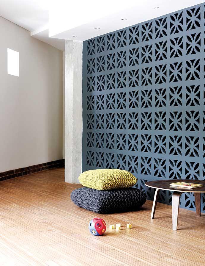 Painted decorative bricks interiors details - Painting concrete block interior walls ...