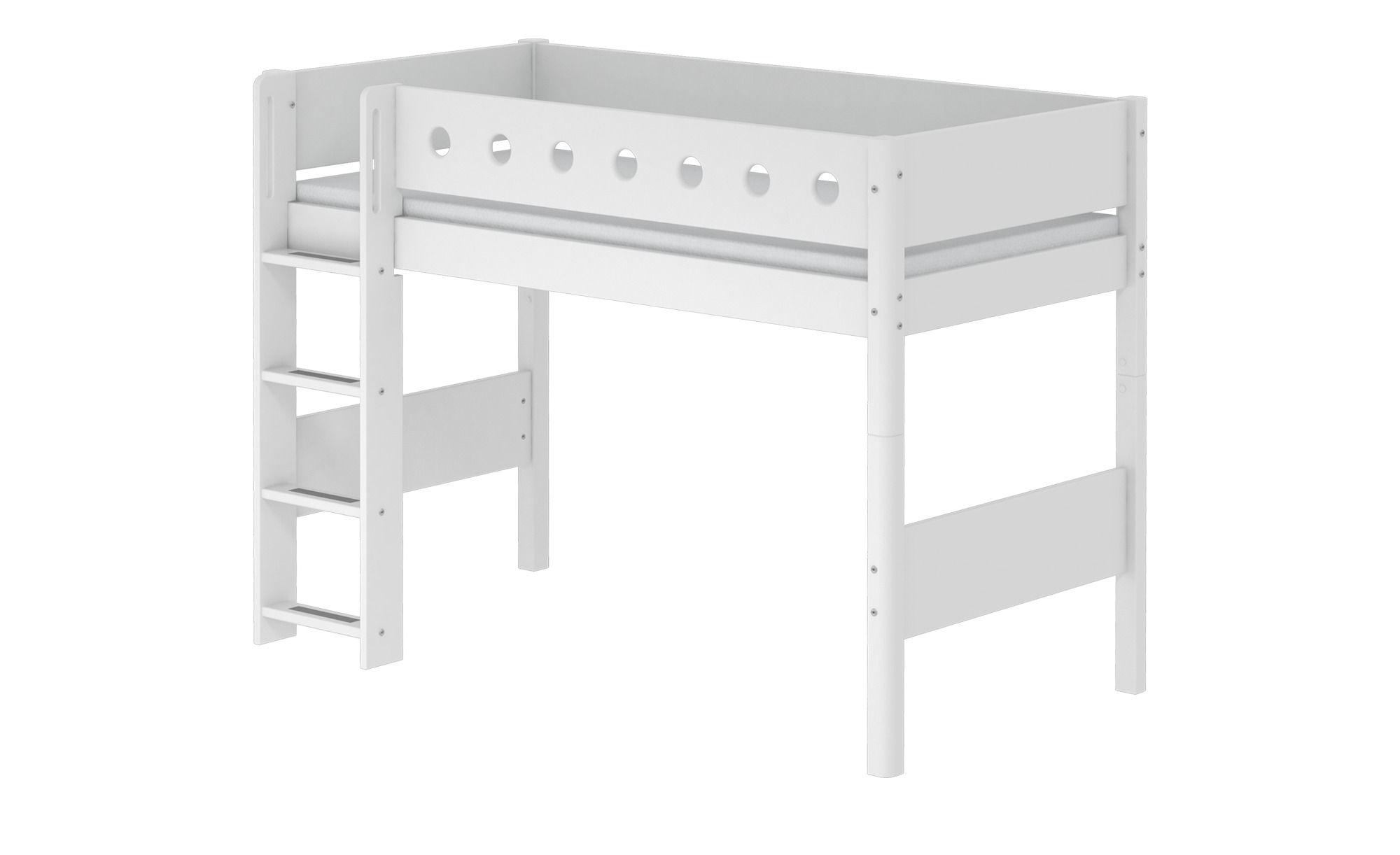 Flexa Mittelhohes Bett 90x200 Weiss Flexa White Kinder Bett Bett Ideen Und Kinderbett