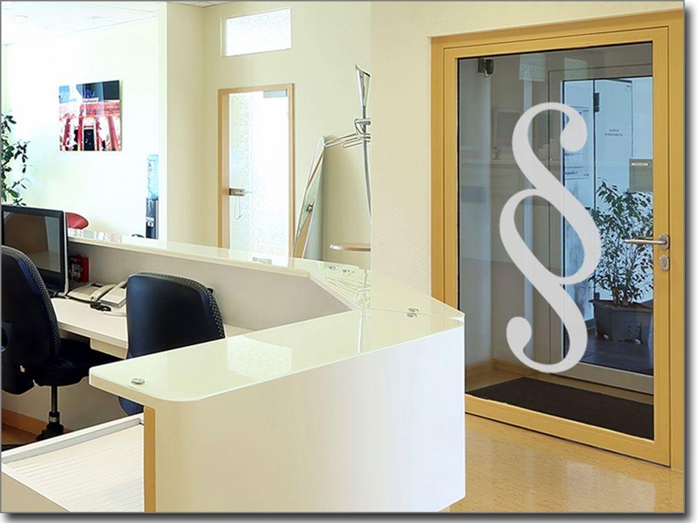 Fensteraufkleber Paragraph für Gewerbe Fensterfolie für Gewerbe - folie für badezimmerfenster