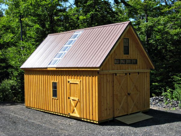 16x24 2 story shed a frame style wood tex products roof for 16x24 shed plans free