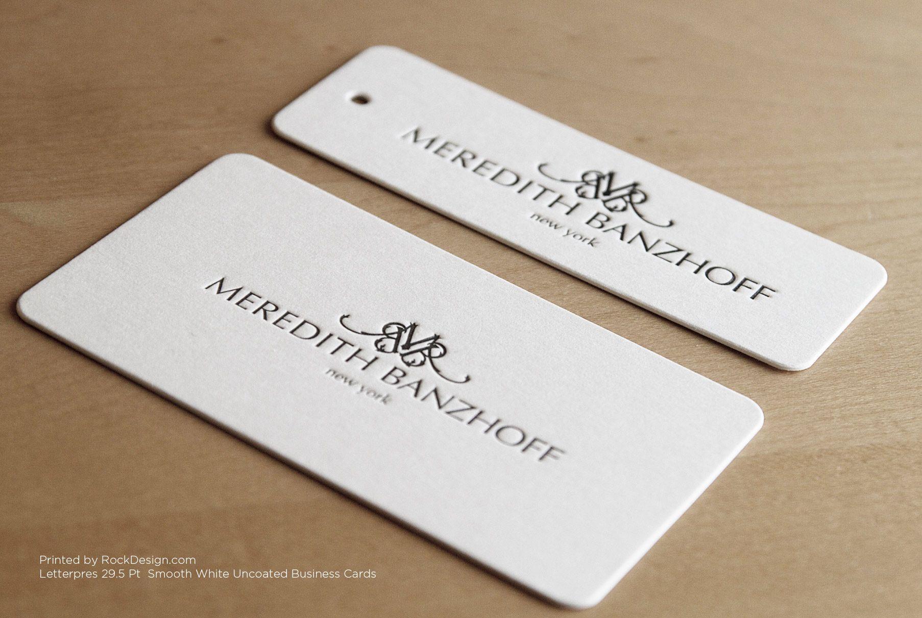 RockDesign.com | High End Business Cards | Letterpress Business ...