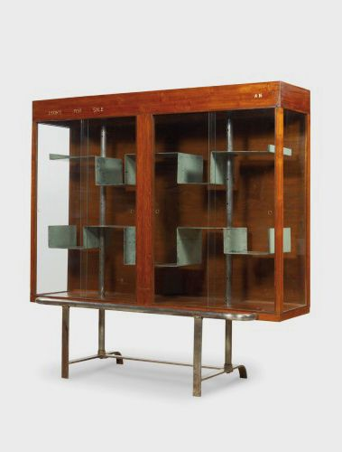 Pierre Jeanneret Bookcase Teak Chrome And Flat Iron From Central