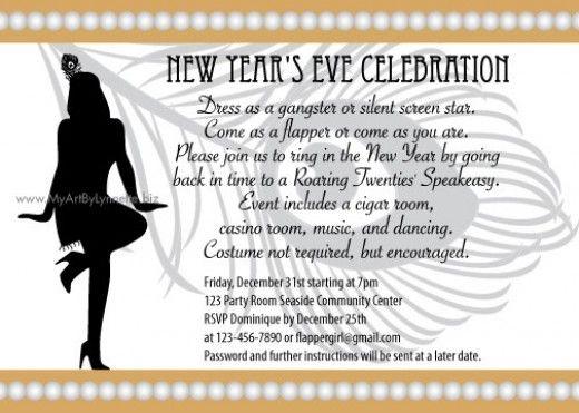 Roaring Twenties Speakeasy party invitations Leaving the