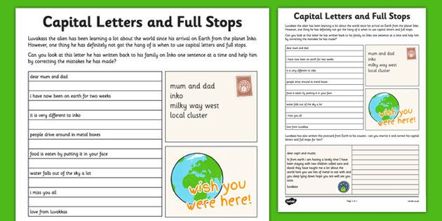 Free Worksheets » Capital Letter Worksheet - Free Math Worksheets ...