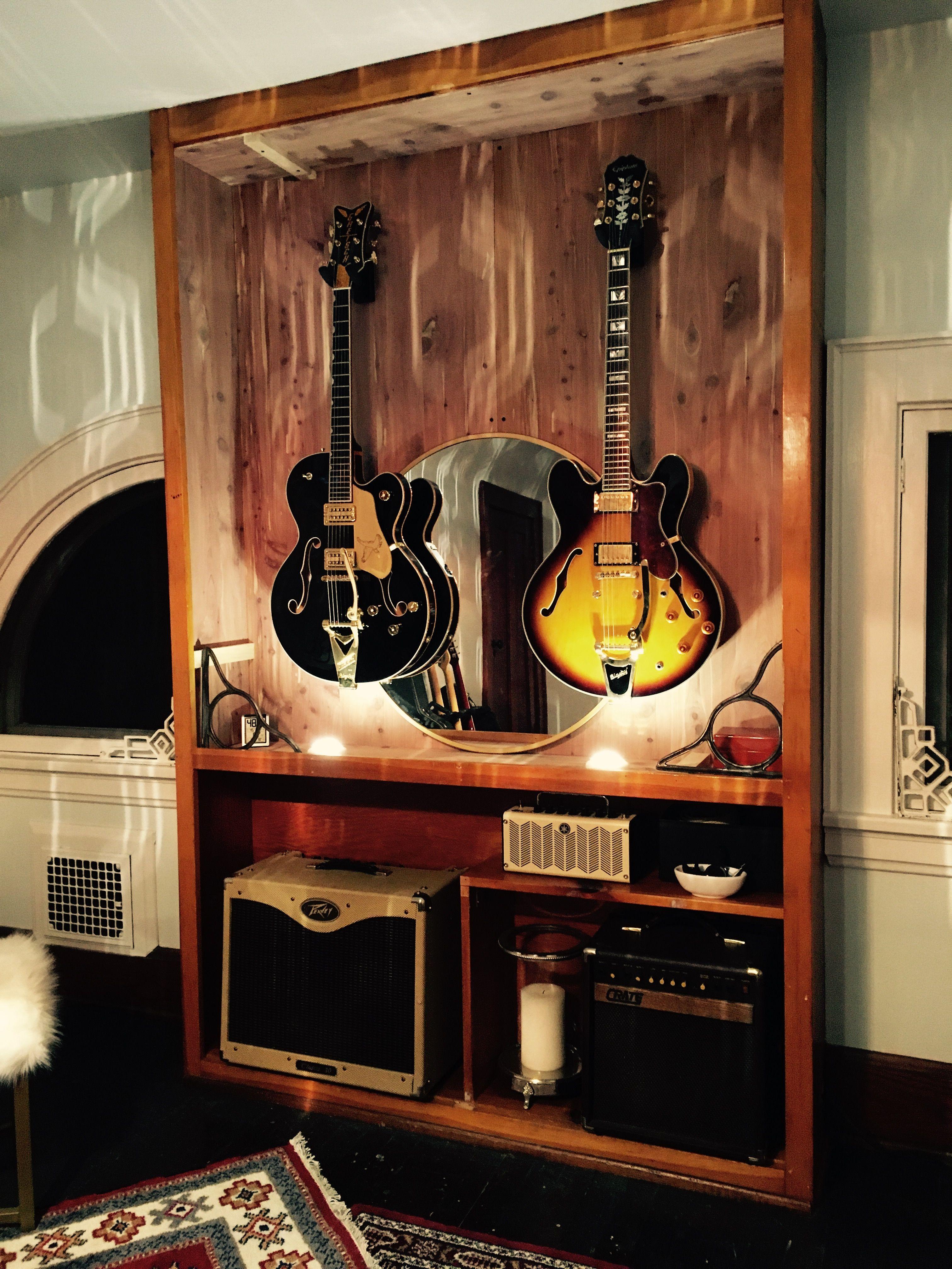 Music Room 3 Music Studio Room Home Music Rooms Guitar Display