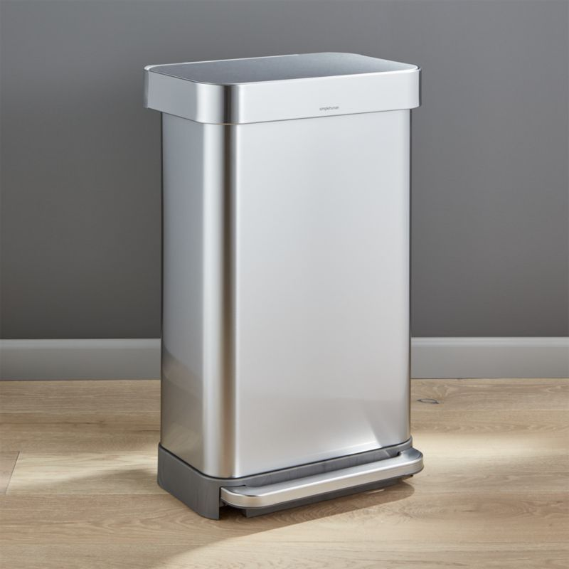 simplehuman ® 45-Liter/12-Gallon Stainless Steel Step ...