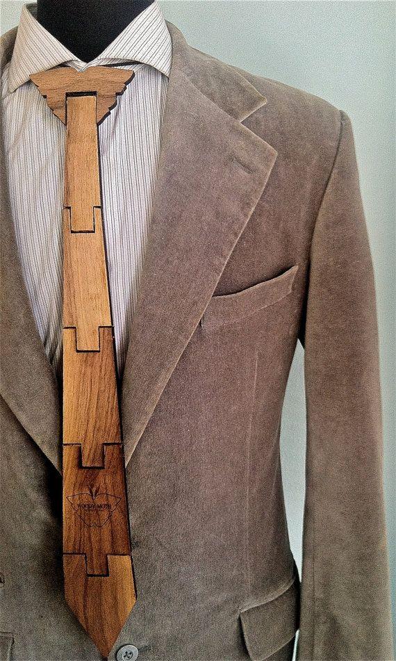 6e62939319f4 Royal Walnut Moth Wood Tie by Woody Moth by WoodyMoth on Etsy, $35.00