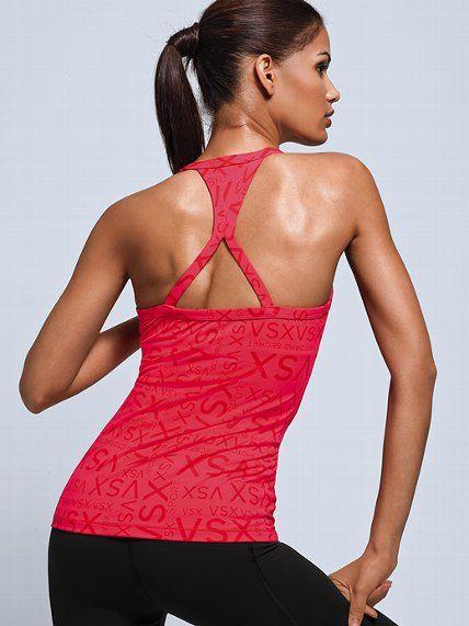 Victoria's Secret Angel Sport Bra Tank - VSX Sport - Victoria's Secret  Glam Red Logo,