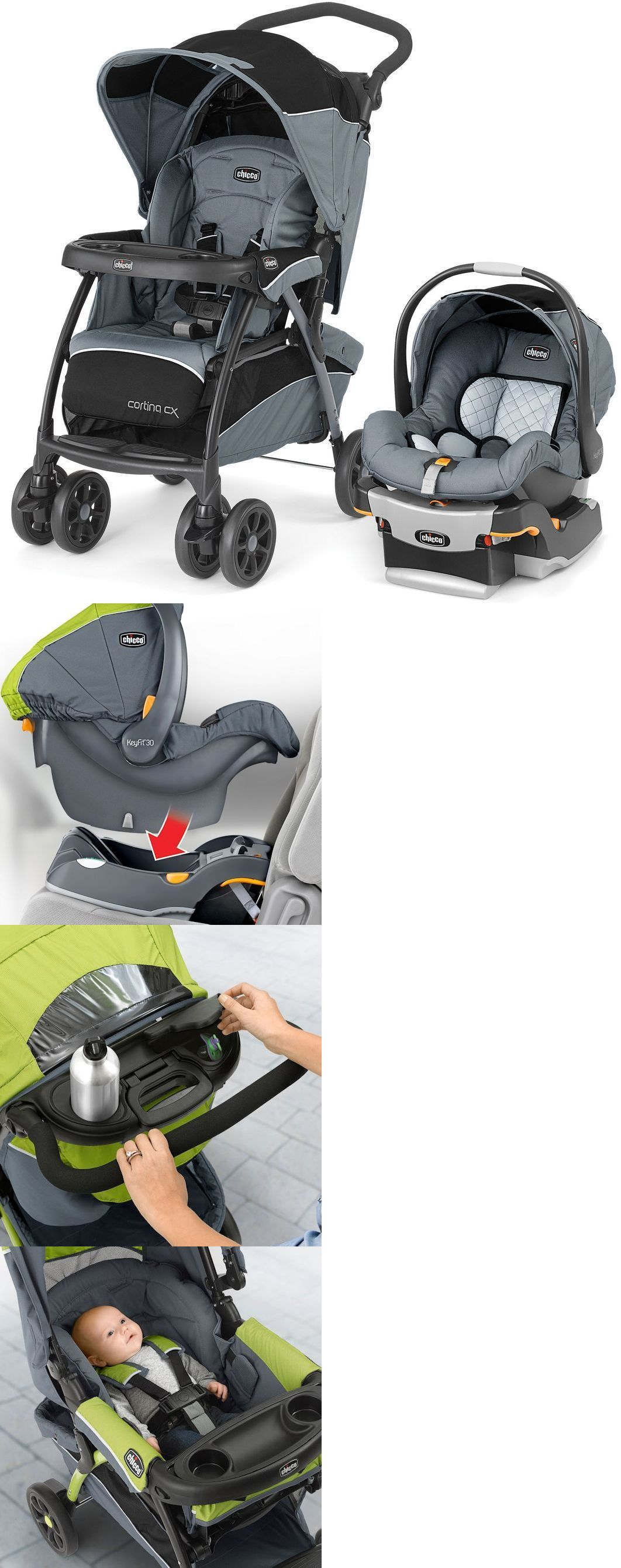 Strollers 66700 Chicco Cortina Cx Baby Travel System Stroller W