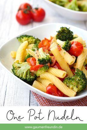 Ein Topf Nudeln mit Brokkoli und Tomaten   - abnehmen/ gesund -