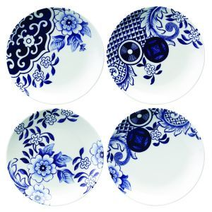 Loveramics - Willow Love Story Side Plates - Set of 4 -  sc 1 st  Pinterest & Willow Love Story Set of 4 Side Plates | Çini | Pinterest | Side plates
