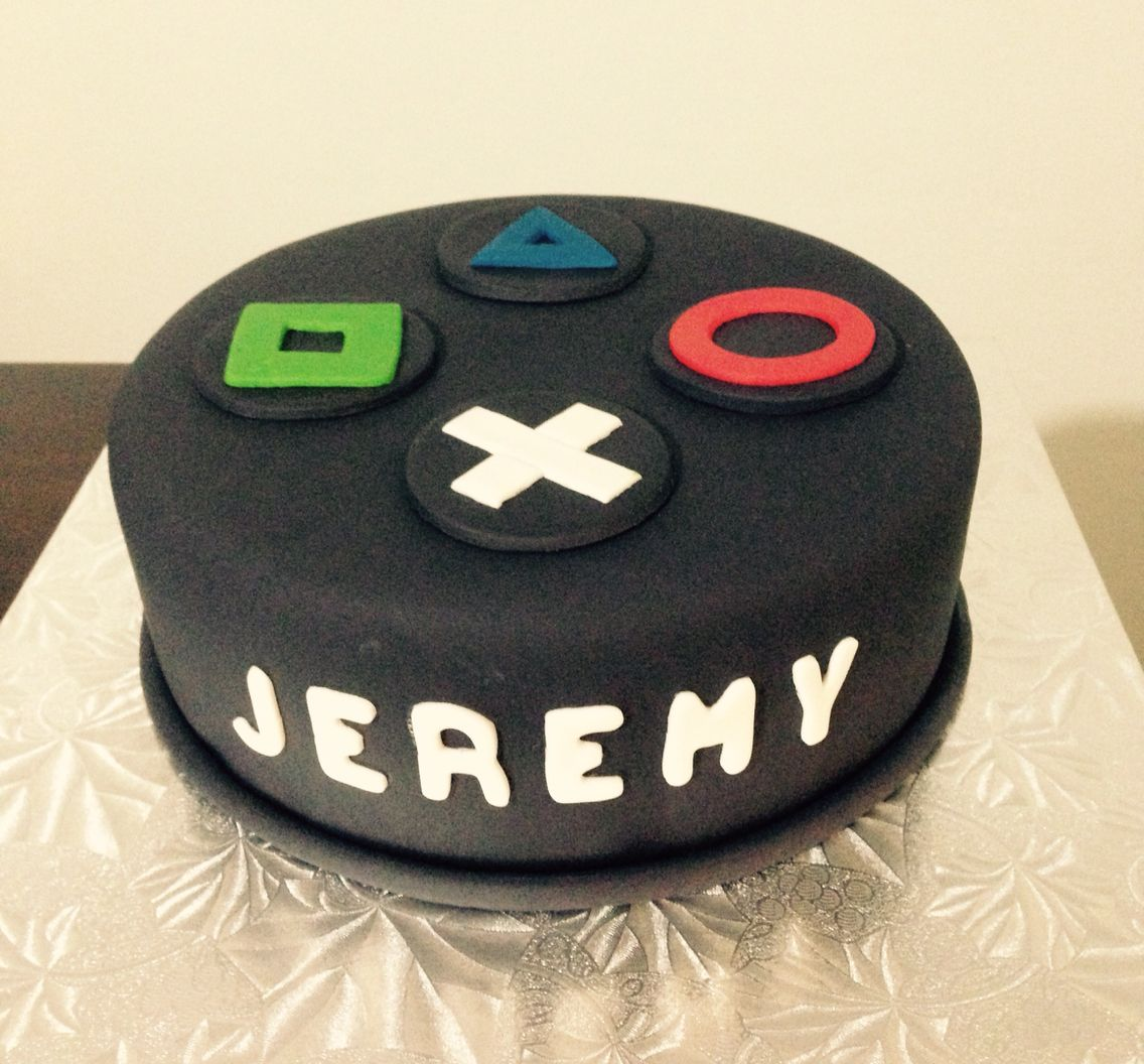 Playstation Cake Ps4 12th Birthday Video Game Cakes