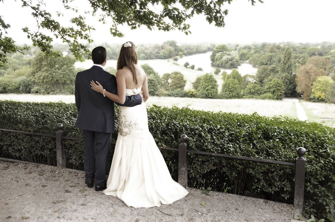 Wedding Photography on Richmond Hill, Surrey by www