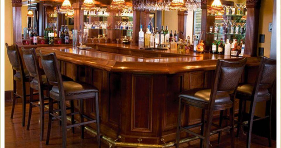 More bars- wood top, mirrors