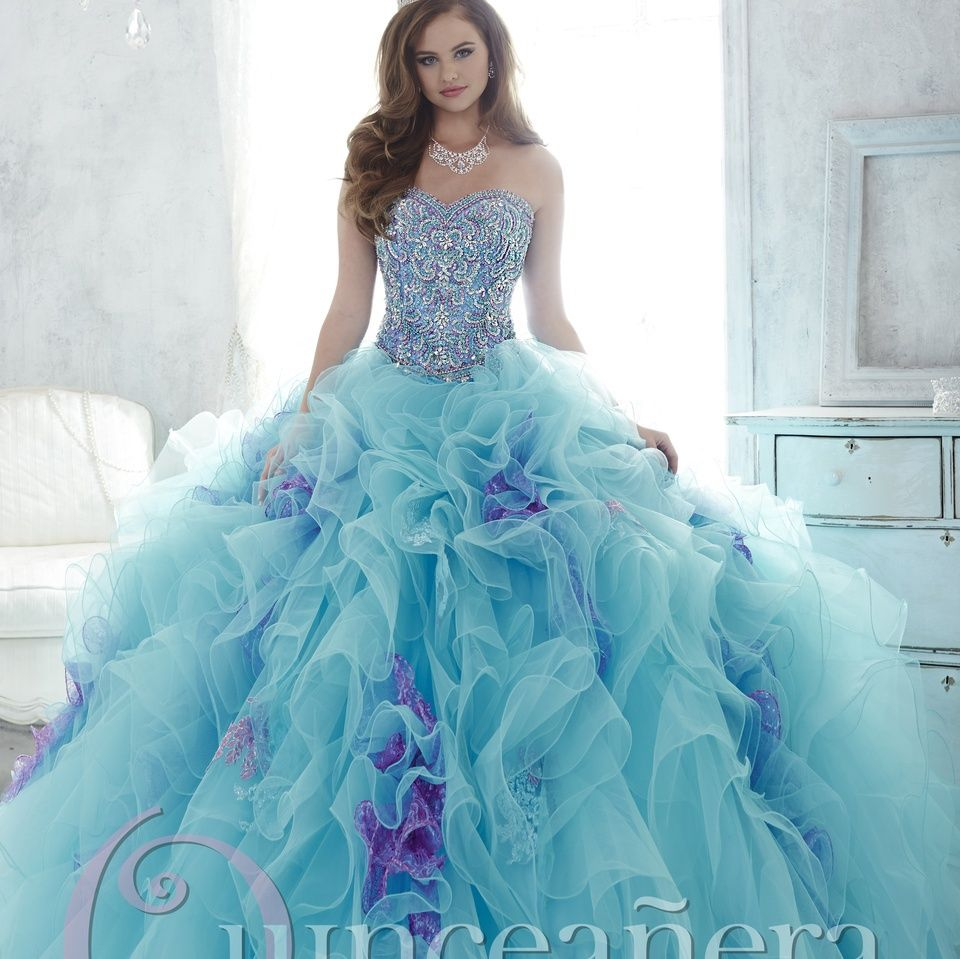 Aliexpress.com : Buy Blue Purple Shining Girls Masquerade Ball Gowns ...