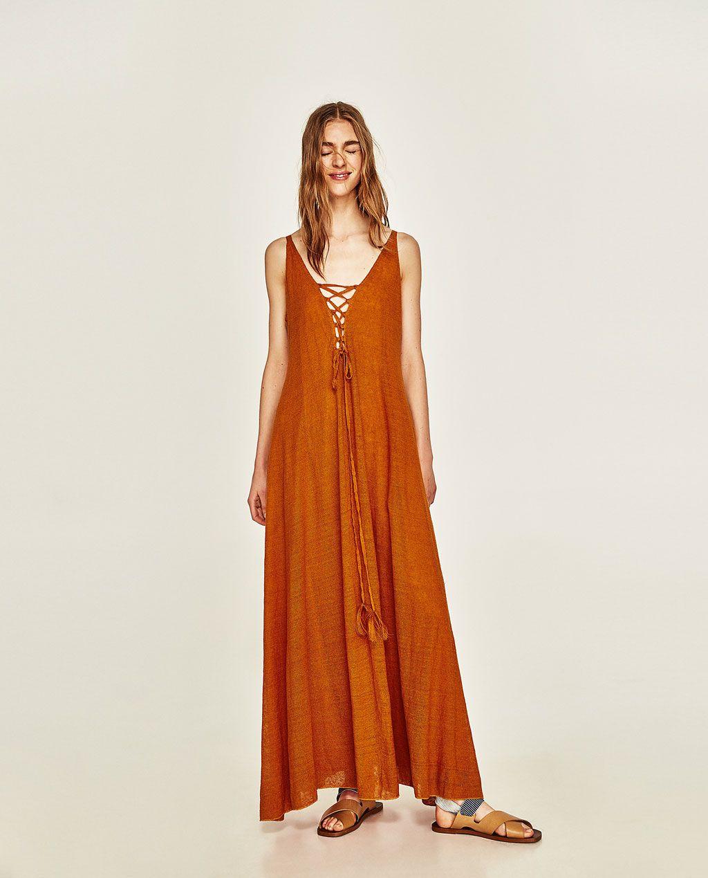 image 1 of linen dress from zara
