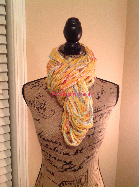 Armknitted infinity scarf by handmadebyaustin on etsy