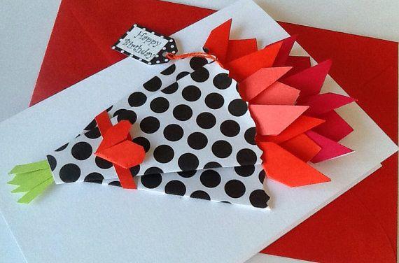 Flower card birthday origami flower card card mom crazy 4 etsy flower card birthday origami flower card card mom mightylinksfo