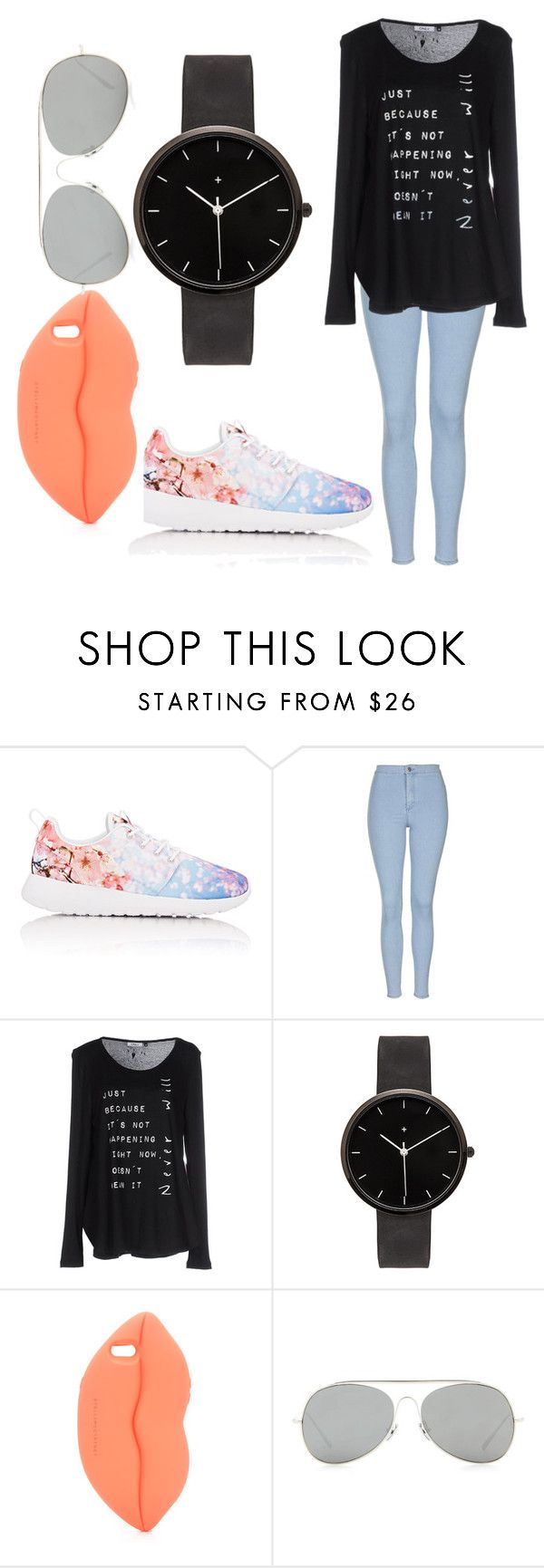 """One average day"" by theflyingtomatoe ❤ liked on Polyvore featuring NIKE, Topshop, ONLY, I Love Ugly, STELLA McCARTNEY and Acne Studios"