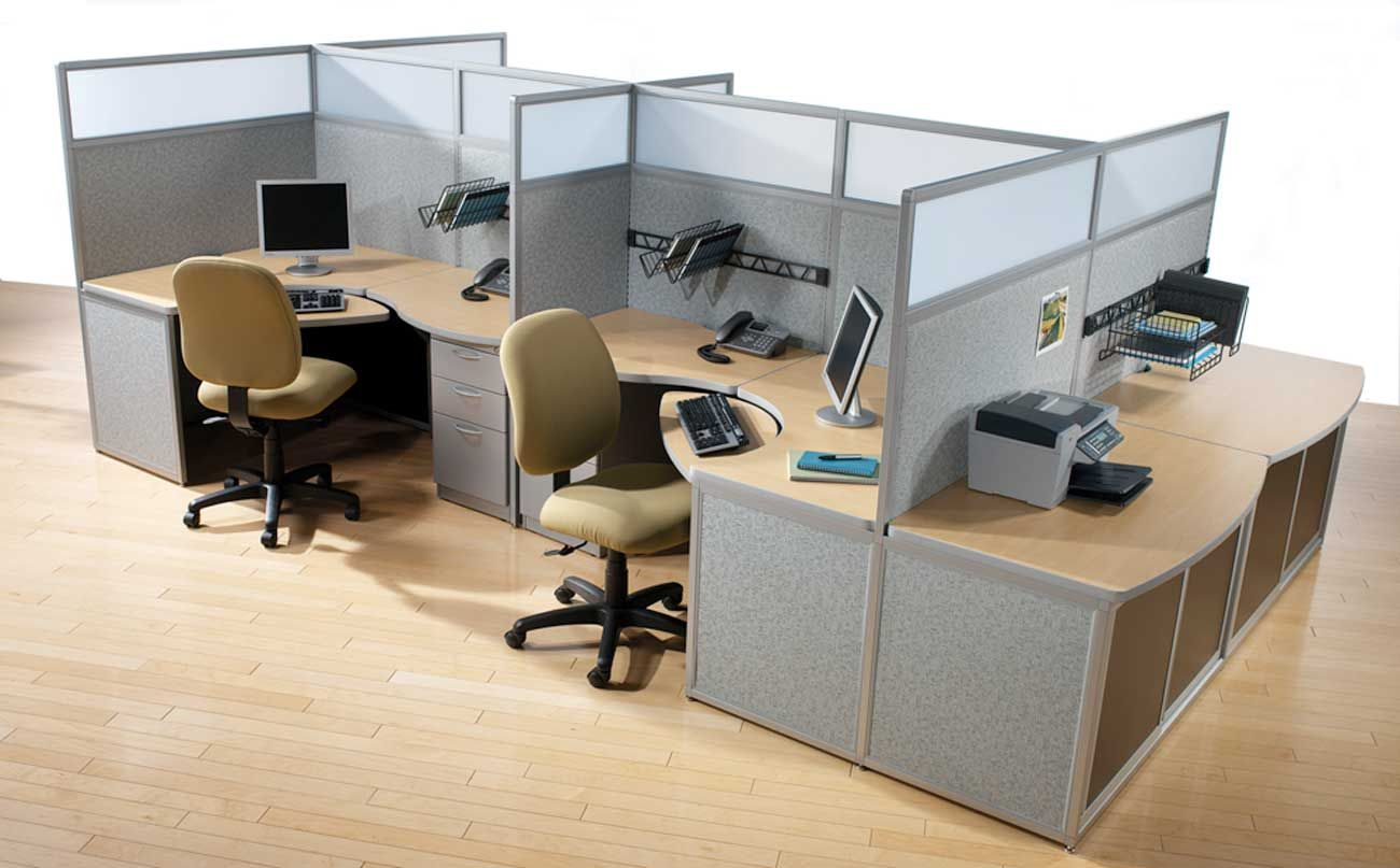 Office workspace exclusive ikea ofice chairs on stripes for Office desk layout ideas