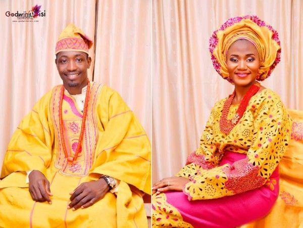 Nigerian wedding yoruba traditional engagement Debbie  George Godwin Oisi Photography 11 yellow Nigerian wedding