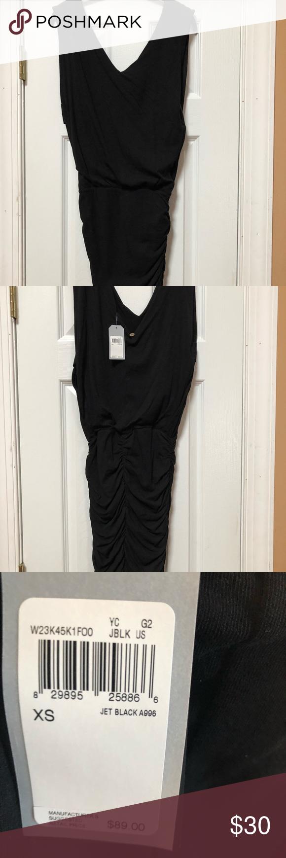 Nwt guess black vneck dress nwt guess dress cotton and models