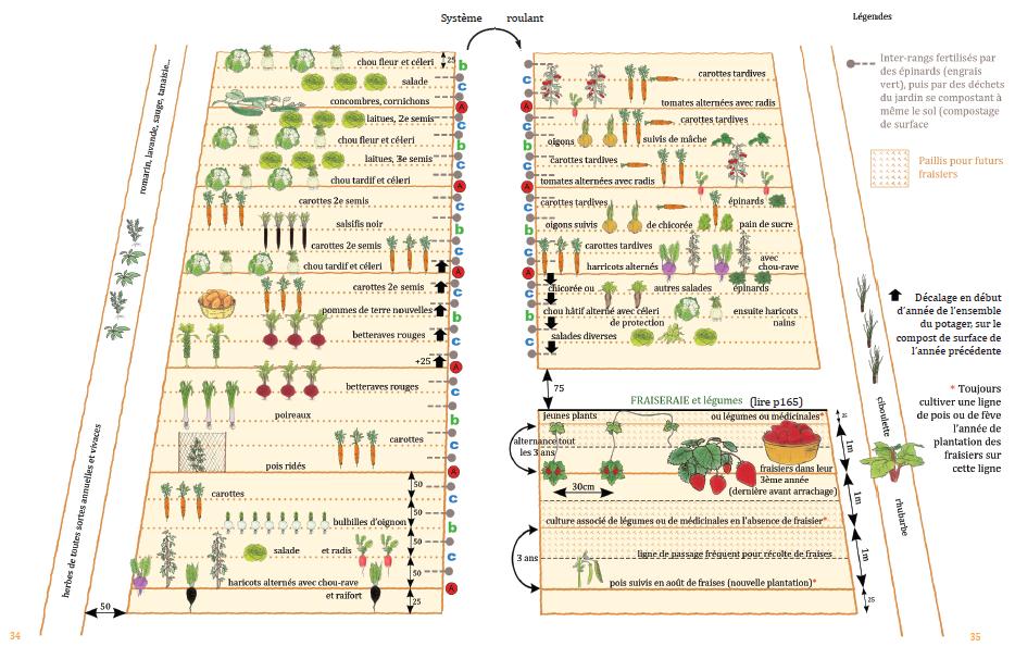 Un livre illustr par de nombeux dessins et photos dont for Plan permaculture