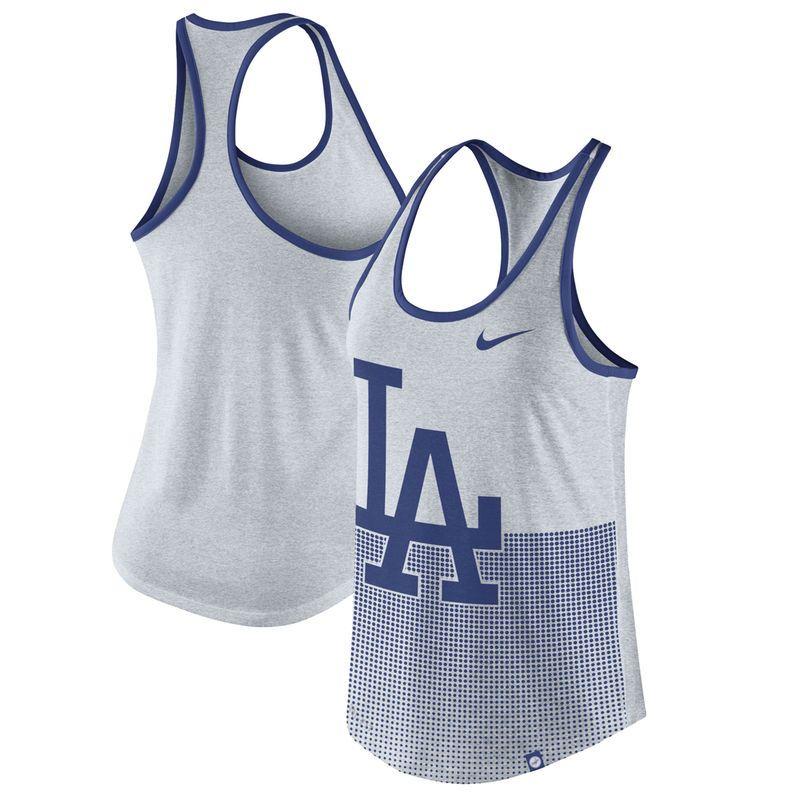 e13f3907 Los Angeles Dodgers Nike Women's Dri-Blend Logo 1.7 Racerback ...