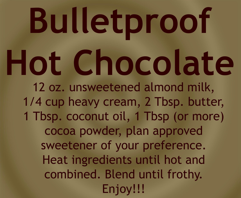 Bulletproof Hot Chocolate Instead Of Coffee