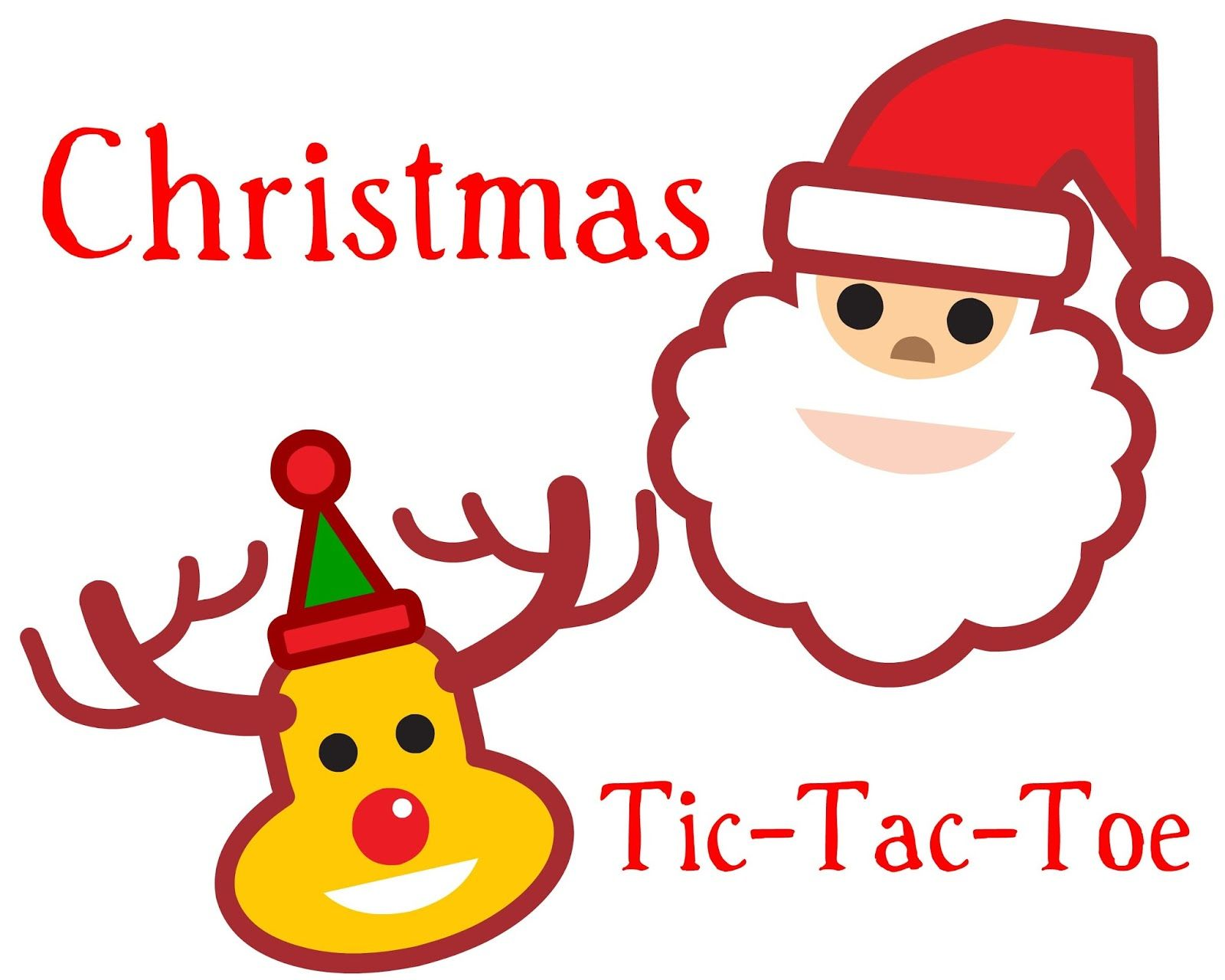 Printable Christmas Tic Tac Toe Game