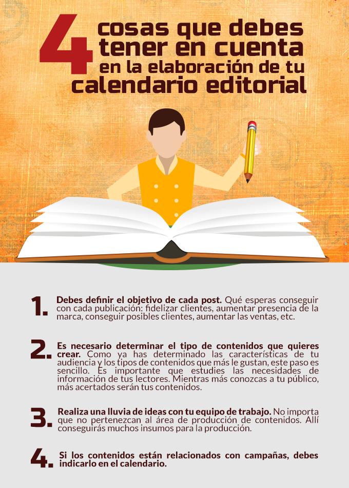 4 cosas que debes tener en cuenta en la elaboración de tu calendario editorial
