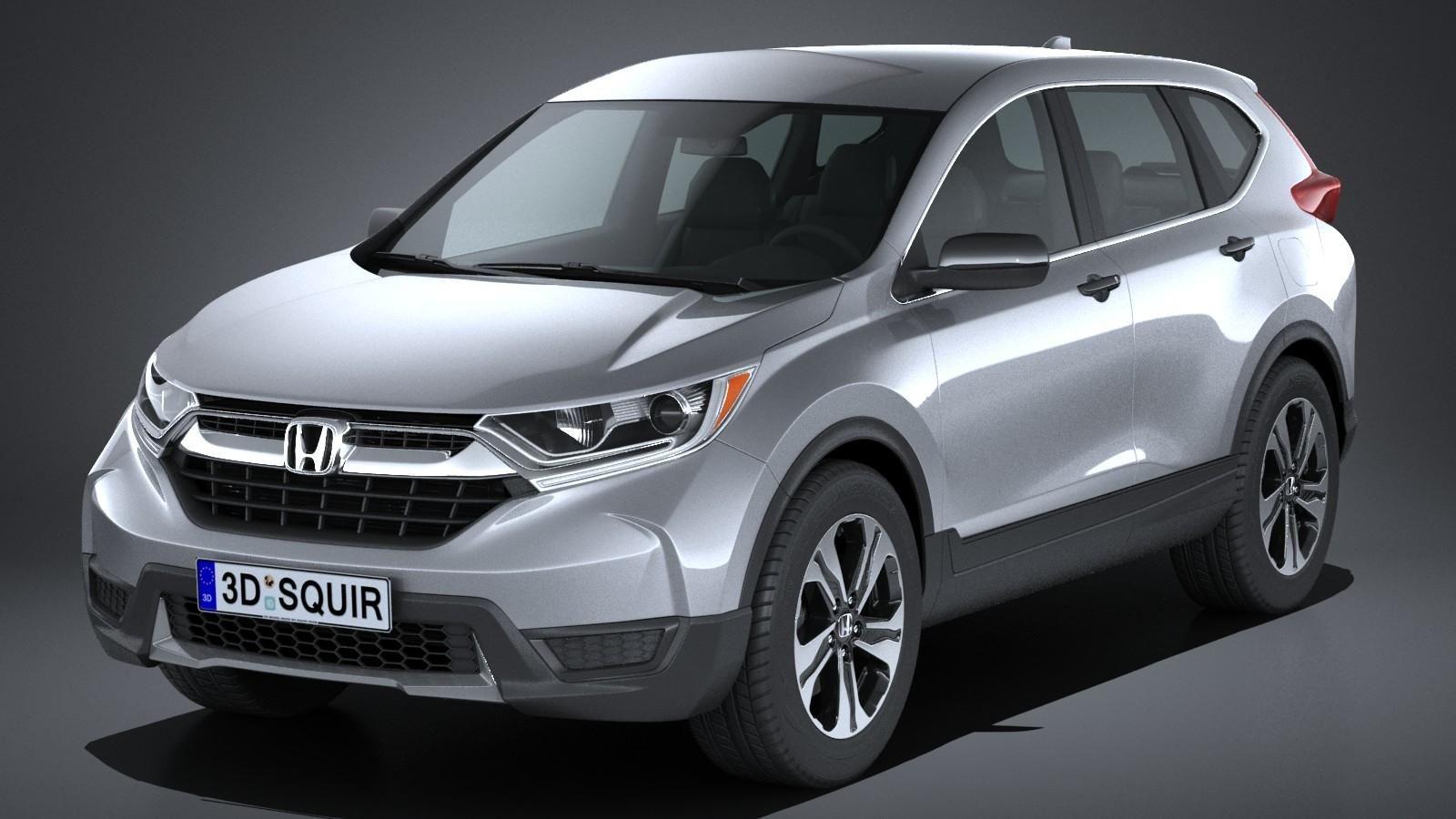 Honda CRV LX 2017 3D Model AD ,CRHondaLXModel