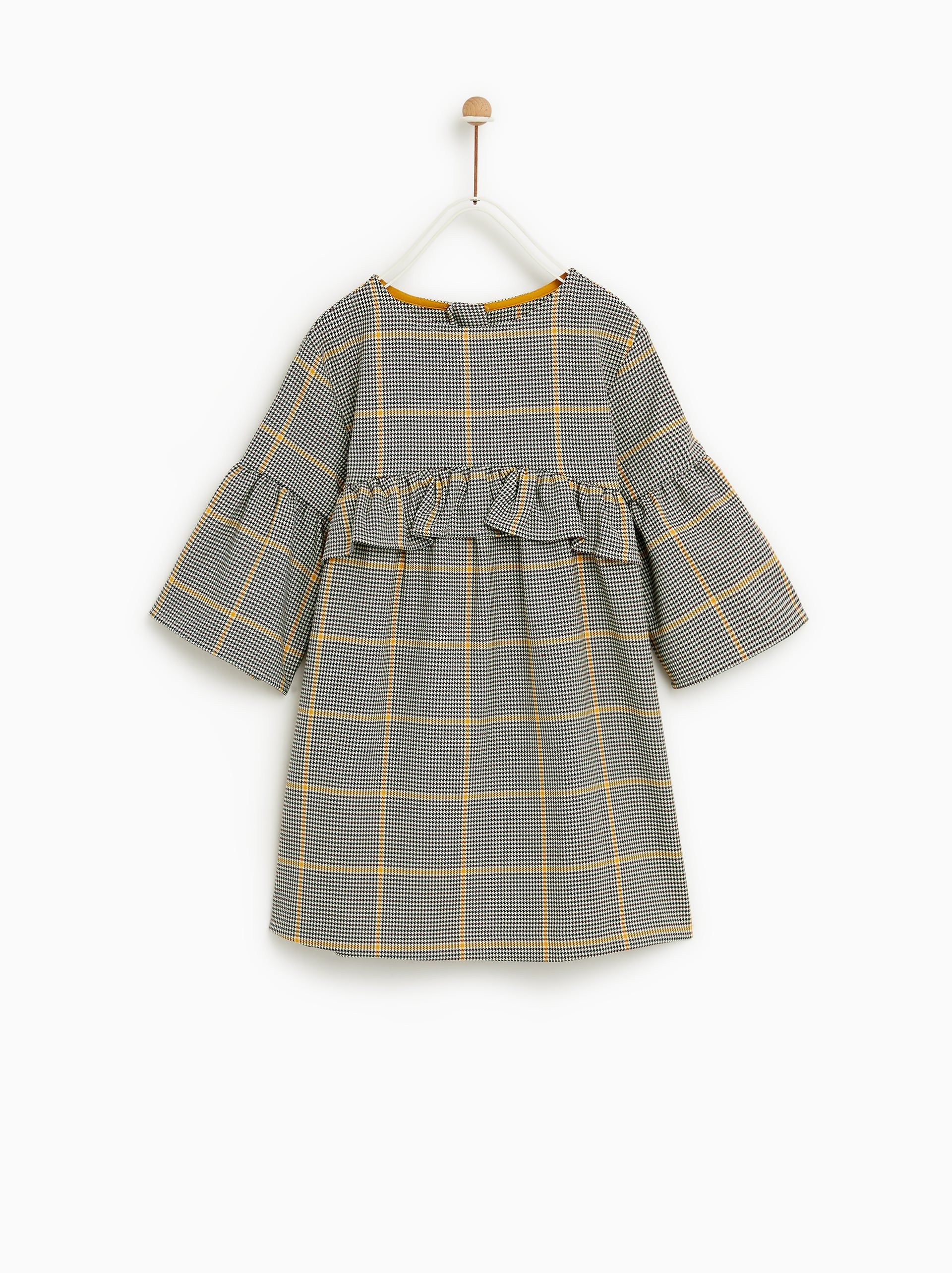 5c1bf327e8 touch of yellow CHECKERED DRESS from Zara Kids Fall 2018 | Fashion ...
