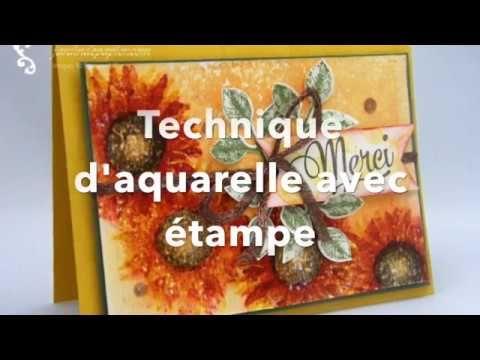 Technique D Aquarelle Avec Etampe Stampin Up Peinture