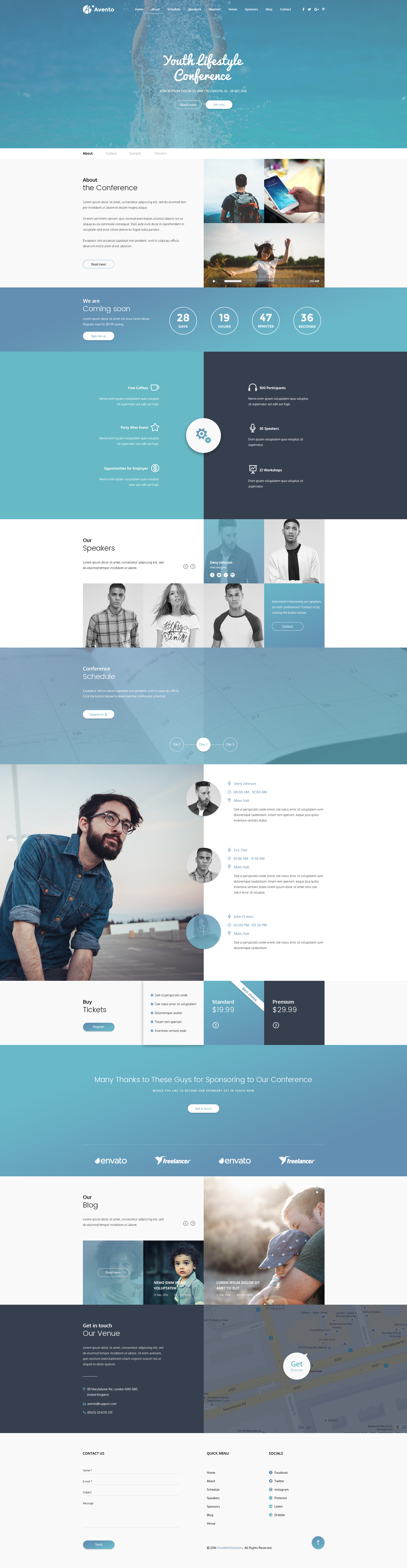 Single page website template bootstrap