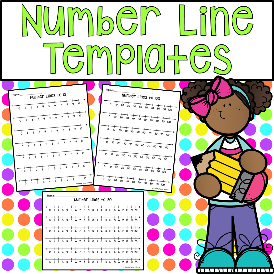 Number Line Templates With Images