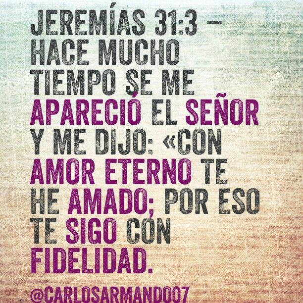 Dios te ama con amor eterno