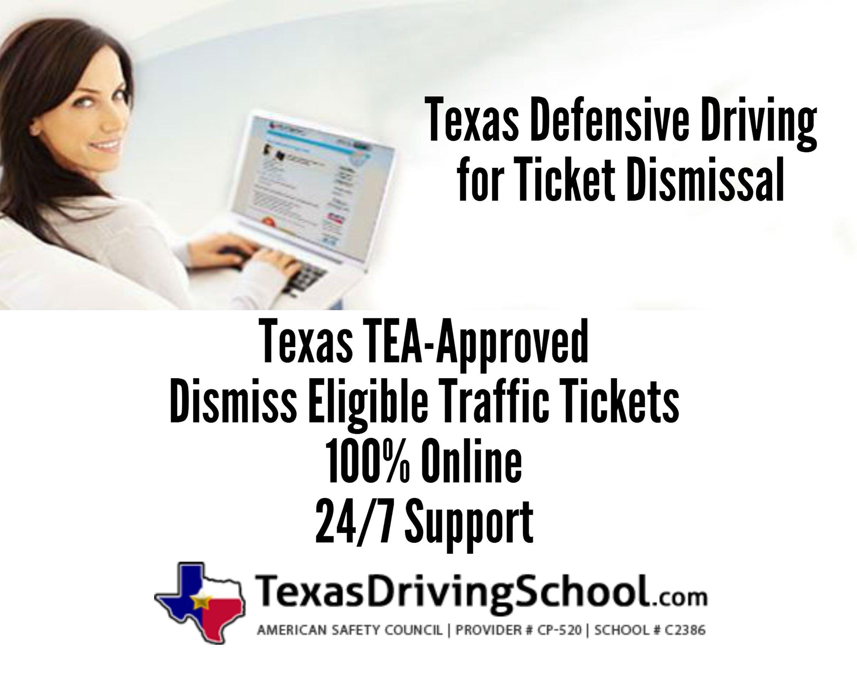 Texas Online Defensive Driving for Ticket Dismissal.