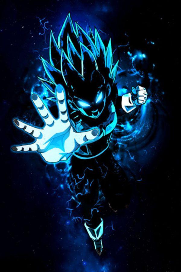 Vegeta super blue god Anime & Manga Poster Print | metal posters