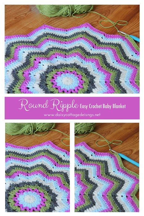 Round Ripple Baby Blanket Crochet Project | sewing | Pinterest | Häkeln