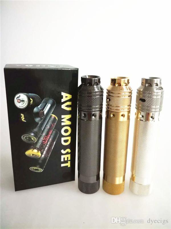 US AV Avid Lyfe Style 18650 Mechanica Mod Kit+CompLyfe Battle Atomizerr Kit