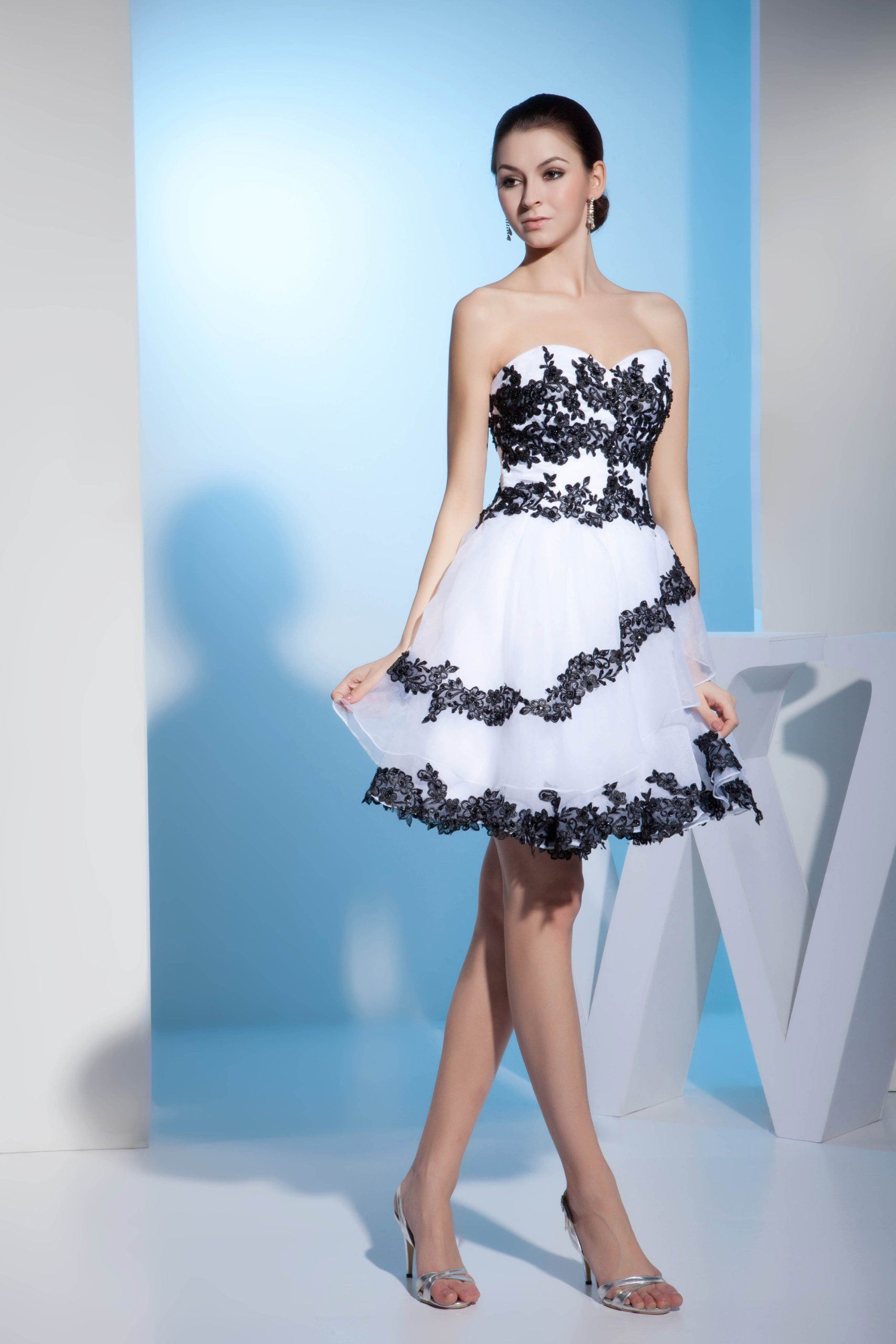 Strapless/Tube Sleeveless prom dress #promdress #eveningdress ...