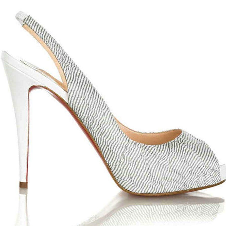 Christian Louboutin Peep Toe Sexy Slingbacks [Christian_Louboutin 2012253] - $172.87 : cheap womens toms shoes,toms shoes on sale