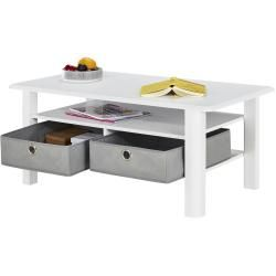 Photo of Coffee table – white – 60 cm – 44 cm – 60 cm – tables> coffee tables furniture Kraft