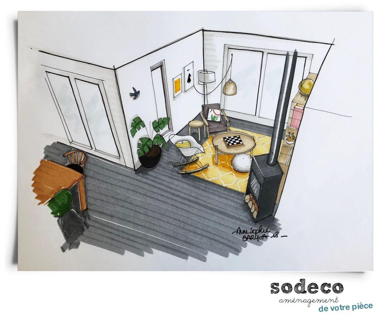 Reinvestir L Espace Croquis Interieur Dessin Architecture Et Illustration D Espace