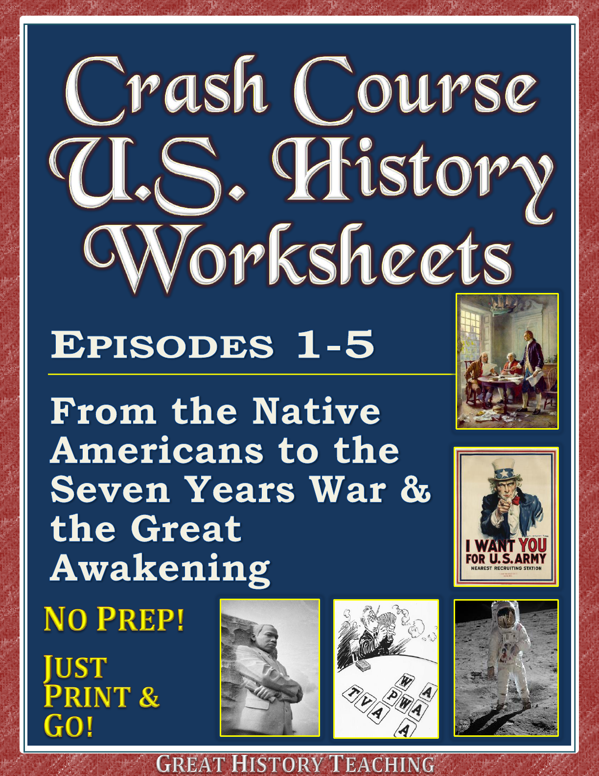 Crash Course Us History Worksheets Episodes 1 10 Bundle
