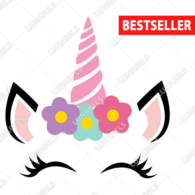Unicorn SVG, Unicorn Flower Clipart, Unicorn, Unicorn