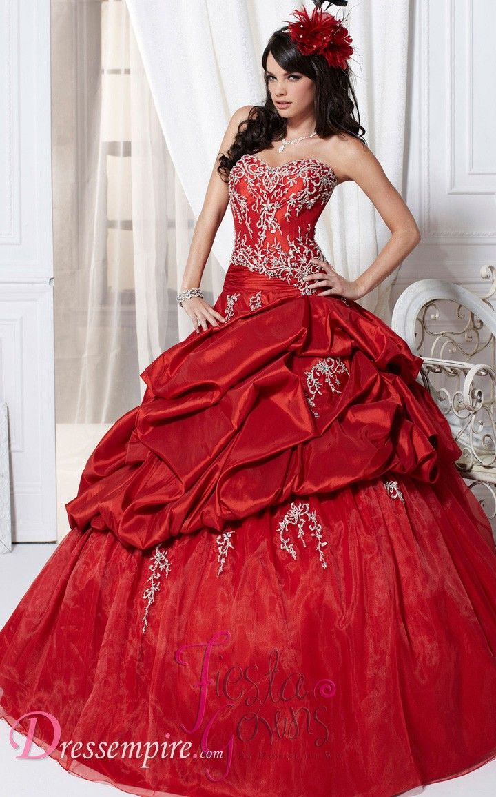 0bfb46468ff Tiffany 56216 Quinceanera Dress. red 15 dress Dresses Near Me ...