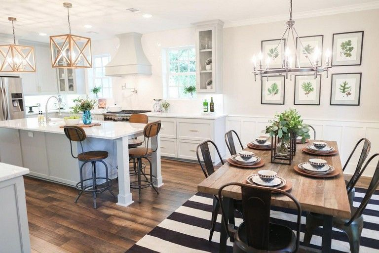 35 Admirable Living Room Dining Room Combo Ideas Page 10 Of 38 Kitchen Dining Room Combo Farmhouse Kitchen Design Kitchen Room Design
